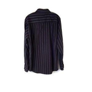 MB Studio Mens Long Sleeve Button Down Dress Shirt